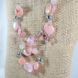 Jewelry - Shimmering Pink Beaded Necklace